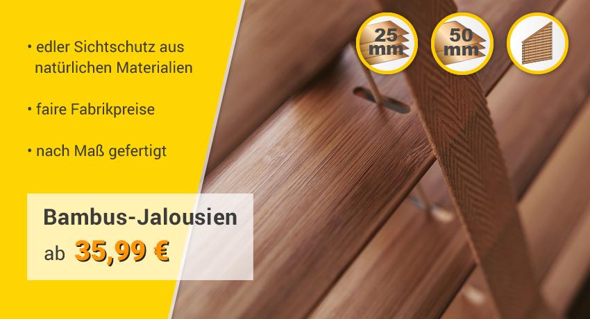 Bambus-Jalousien Kategorie-Banner
