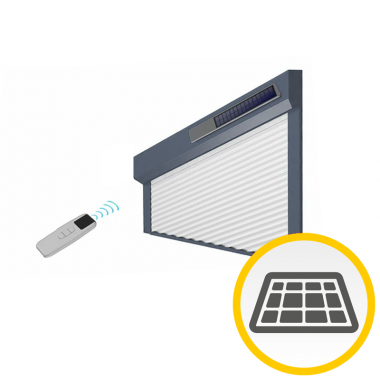 Solar-Vorbaurollladen schräg – Kasten 45°
