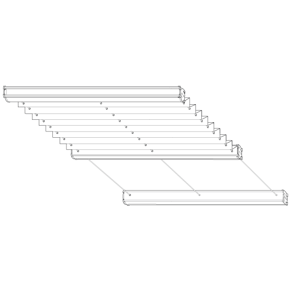 Plafond-Plissee